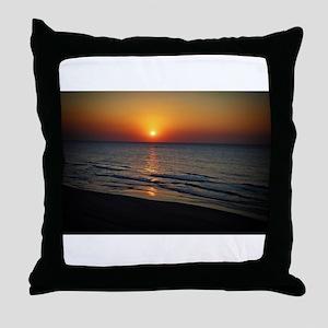 Bat Yam Beach Throw Pillow