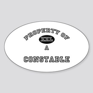 Property of a Constable Oval Sticker