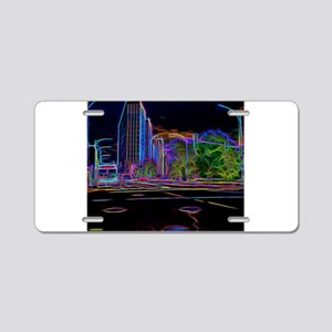 An Electrifying Neon Lit Chicago Aluminum License