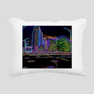 An Electrifying Neon Lit Chicago Rectangular Canva