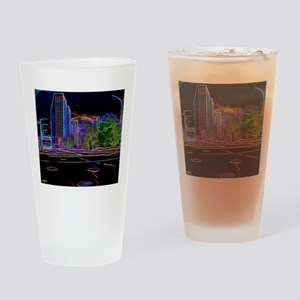 An Electrifying Neon Lit Chicago Drinking Glass