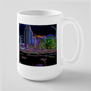 An Electrifying Neon Lit Chicago Mugs