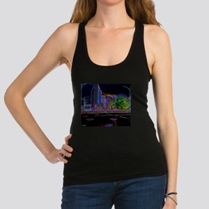 An Electrifying Neon Lit Chicago Racerback Tank To