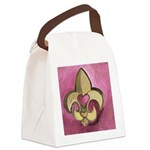 pinkfleurdelis Canvas Lunch Bag