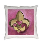 pinkfleurdelis Everyday Pillow