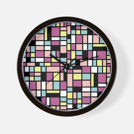 PASTEL COLORS Wall Clock