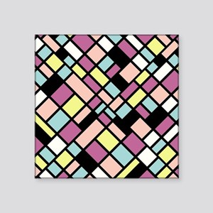 "PASTEL COLORS Square Sticker 3"" x 3"""