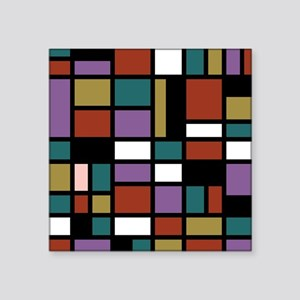 "JEWEL TONES Square Sticker 3"" x 3"""