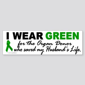I Wear Green 2 (Saved My Husband's Life) Sticker (