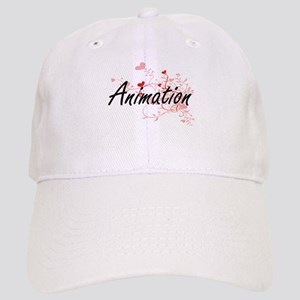 Animation Artistic Design with Hearts Cap