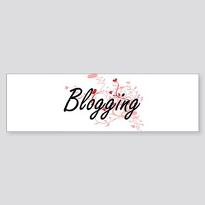 Blogging Artistic Design with Heart Bumper Sticker
