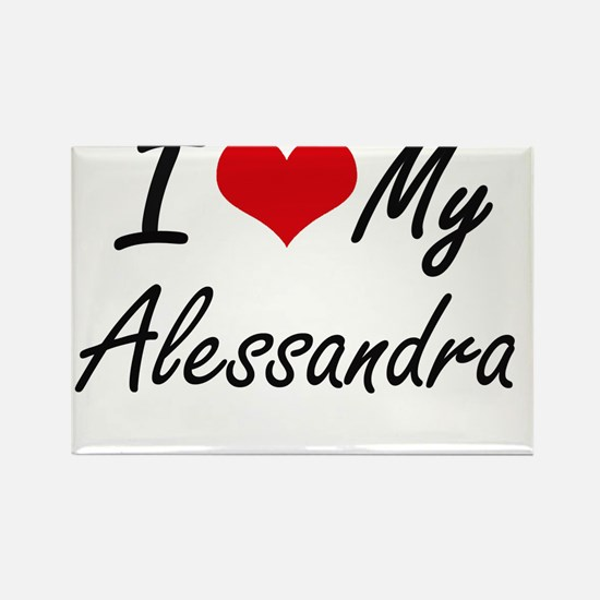 I love my Alessandra Magnets