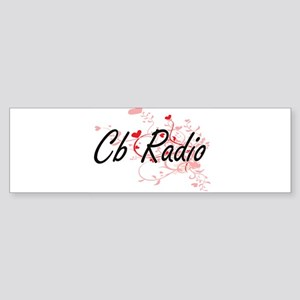 Cb Radio Artistic Design with Heart Bumper Sticker