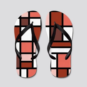 SHADES OF RED Flip Flops
