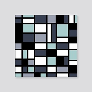 "SHADES OF BLUE Square Sticker 3"" x 3"""