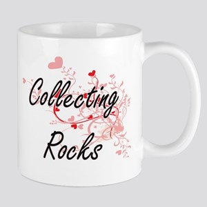 Collecting Rocks Artistic Design with Hearts Mugs