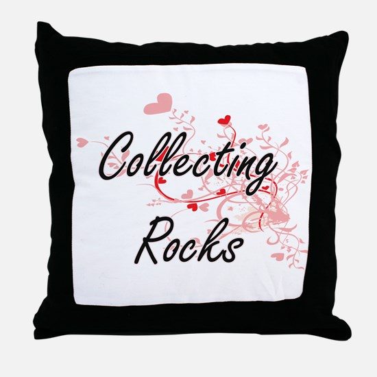 Collecting Rocks Artistic Design with Throw Pillow