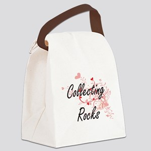 Collecting Rocks Artistic Design Canvas Lunch Bag