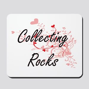 Collecting Rocks Artistic Design with He Mousepad