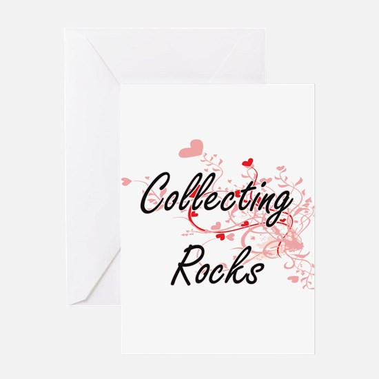 Collecting Rocks Artistic Design wi Greeting Cards