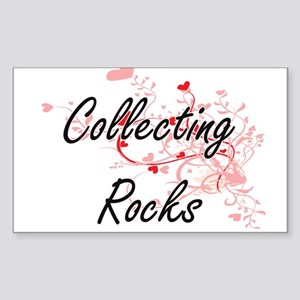 Collecting Rocks Artistic Design with Hear Sticker
