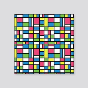 "NEON COLORS Square Sticker 3"" x 3"""
