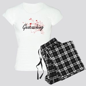 Geocaching Artistic Design Women's Light Pajamas