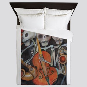 Halloween Three Musicians Queen Duvet