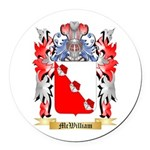 McWilliam Round Car Magnet