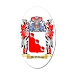 McWilliam 35x21 Oval Wall Decal
