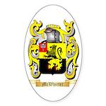 McWhirter Sticker (Oval 50 pk)