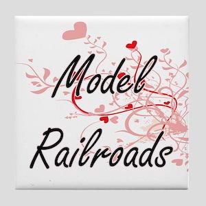 Model Railroads Artistic Design with Tile Coaster