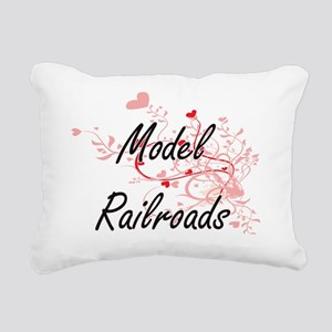Model Railroads Artistic Rectangular Canvas Pillow