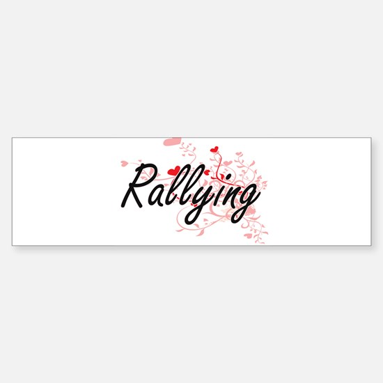Rallying Artistic Design with Heart Bumper Bumper Bumper Sticker