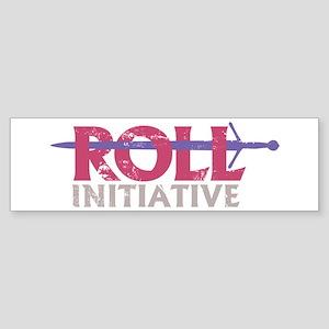 Roll Initiative (sword) (bumper) Bumper Sticker