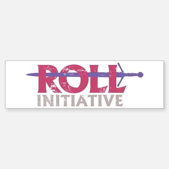 Roll Initiative (sword) (bumper) Bumper Bumper Bumper Sticker
