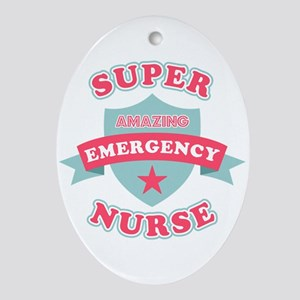 Super Emergency Nurse Oval Ornament