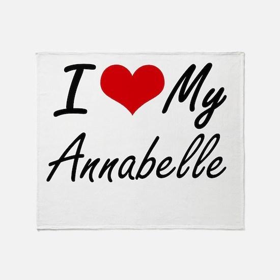 I love my Annabelle Throw Blanket