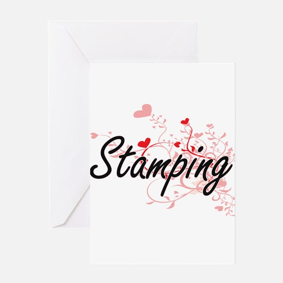 Stamping Artistic Design with Heart Greeting Cards