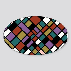 JEWEL TONES Sticker (Oval)