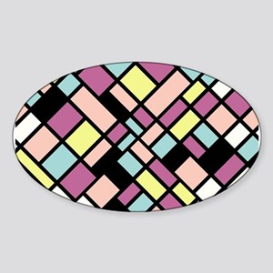 PASTEL COLORS Sticker (Oval)