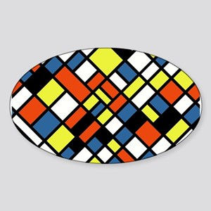 PRIMARY COLORS Sticker (Oval)