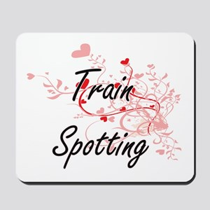 Train Spotting Artistic Design with Hear Mousepad