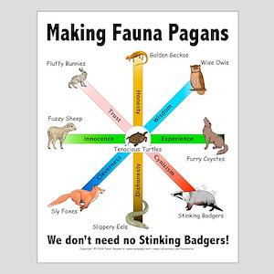 Pagan Fauna Small Poster
