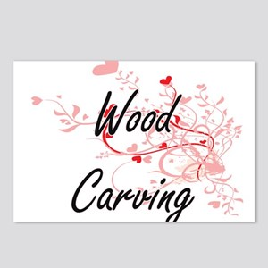 Wood Carving Artistic Des Postcards (Package of 8)