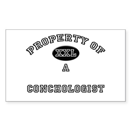 Property of a Conchologist Rectangle Sticker