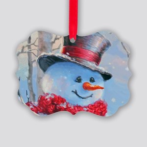 Snowman in the Woods Ornament