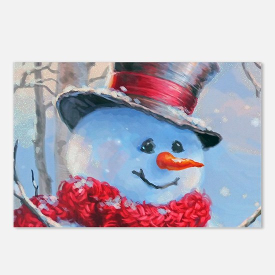 Snowman in the Woods Postcards (Package of 8)
