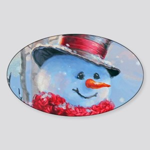 Snowman in the Woods Sticker