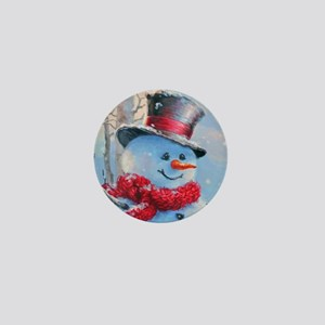 Snowman in the Woods Mini Button